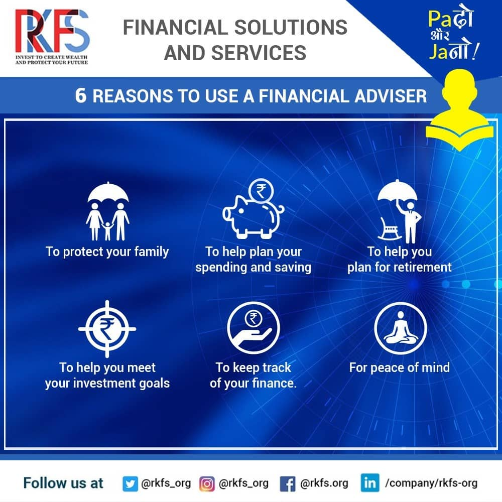 6 reasons to use a financial adviser